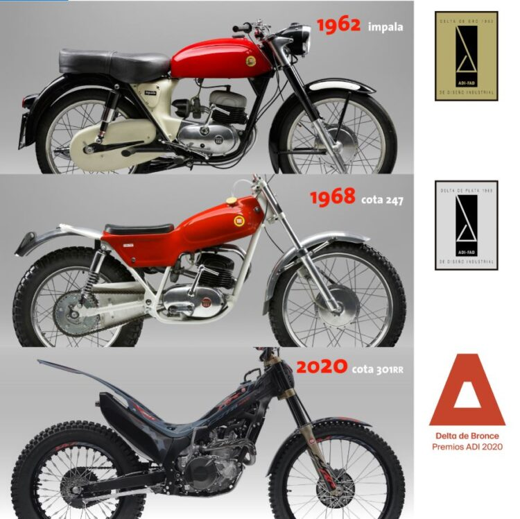 The Montesa Cota 301RR, awarded with a Delta price for industrial design!